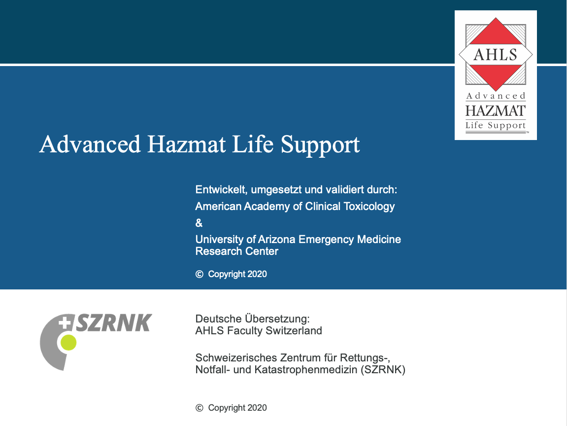 Advanced Hazmat Life Support